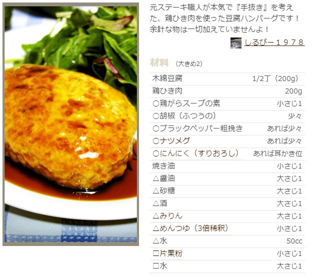 豆腐 ハンバーグ レシピ 鶏 ひき肉